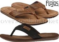 MEN'S FLOJOS ALONZO FLIP FLOPS SANDALS THONGS! COMFORT FOOTBED!