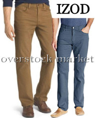 MENS IZOD COMFORT STRETCH STRAIGHT FIT 5 POCKET TWILL PANT!