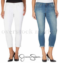 WOMENS JESSICA SIMPSON ROLLED CROP SKINNY JEAN! STRETCH SOFT SCULP!