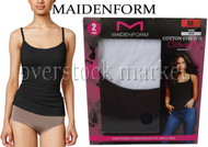 NEW OPEN PACK! MAIDENFORM COTTON STRETCH CAMISOLES LAYERING TANK! 2 PACK