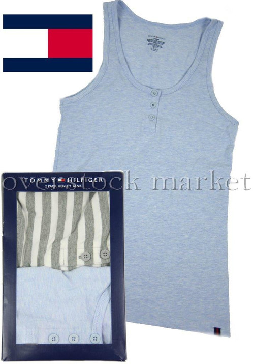 7332cacb NEW OPEN PACK WOMEN'S TOMMY HILFIGER 2 PACK HENLEY TANKS! COTTON ...