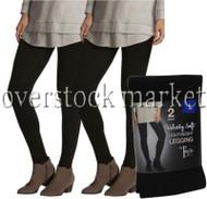 2 PACK WOMENS FELINA LIGHTWEIGHT VELVETY SOFT LEGGINGS PEACHED FABRIC!