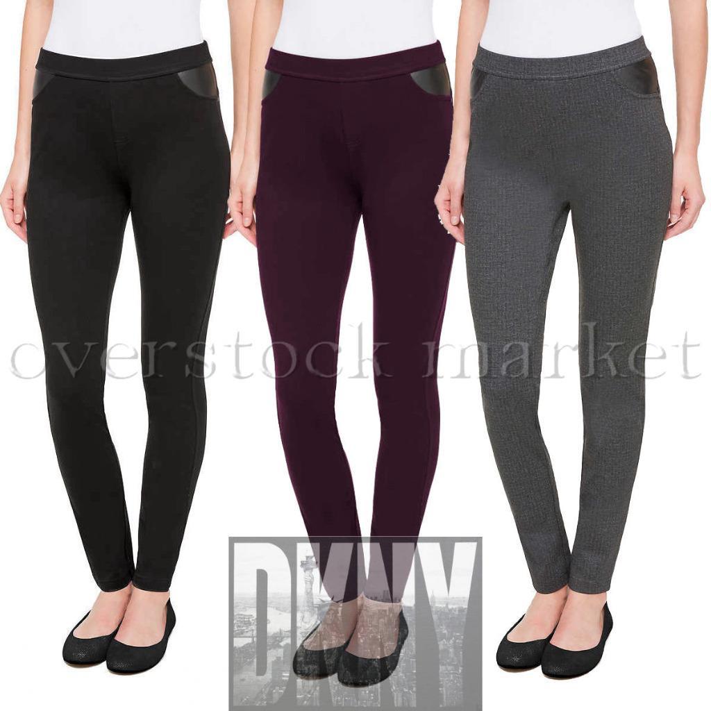 Black DKNY Jeans Ladies/' Mid-rise Pull On Ponte Pant