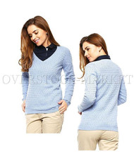 WOMEN'S TOMMY HILFIGER LONG SLEEVE V-NECK PULLOVER JUMPER SWEATER!