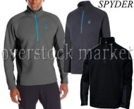MENS SPYDER OUTBOUND HALF ZIP MID WEIGHT CORE SWEATER!