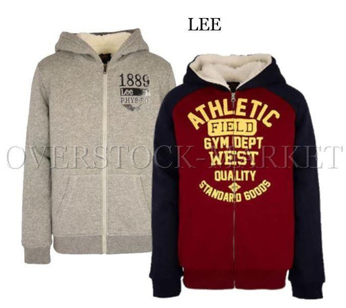 977b9cdc2 NEW! BOYS LEE YOUTH SHERPA LINED HOODIE FULL ZIP SWEATSHIRT ...