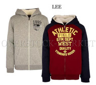 NEW! BOYS LEE YOUTH SHERPA LINED HOODIE FULL ZIP SWEATSHIRT