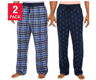 MEN'S NAUTICA 2 PACK MICRO-PILE SOFT SUEDED FLEECE PAJAMA PANT!