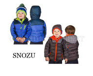 BOYS SNOZU PUFFER FLEECE LINED JACKET/COAT! W/FLEECE LINED KNIT HAT!