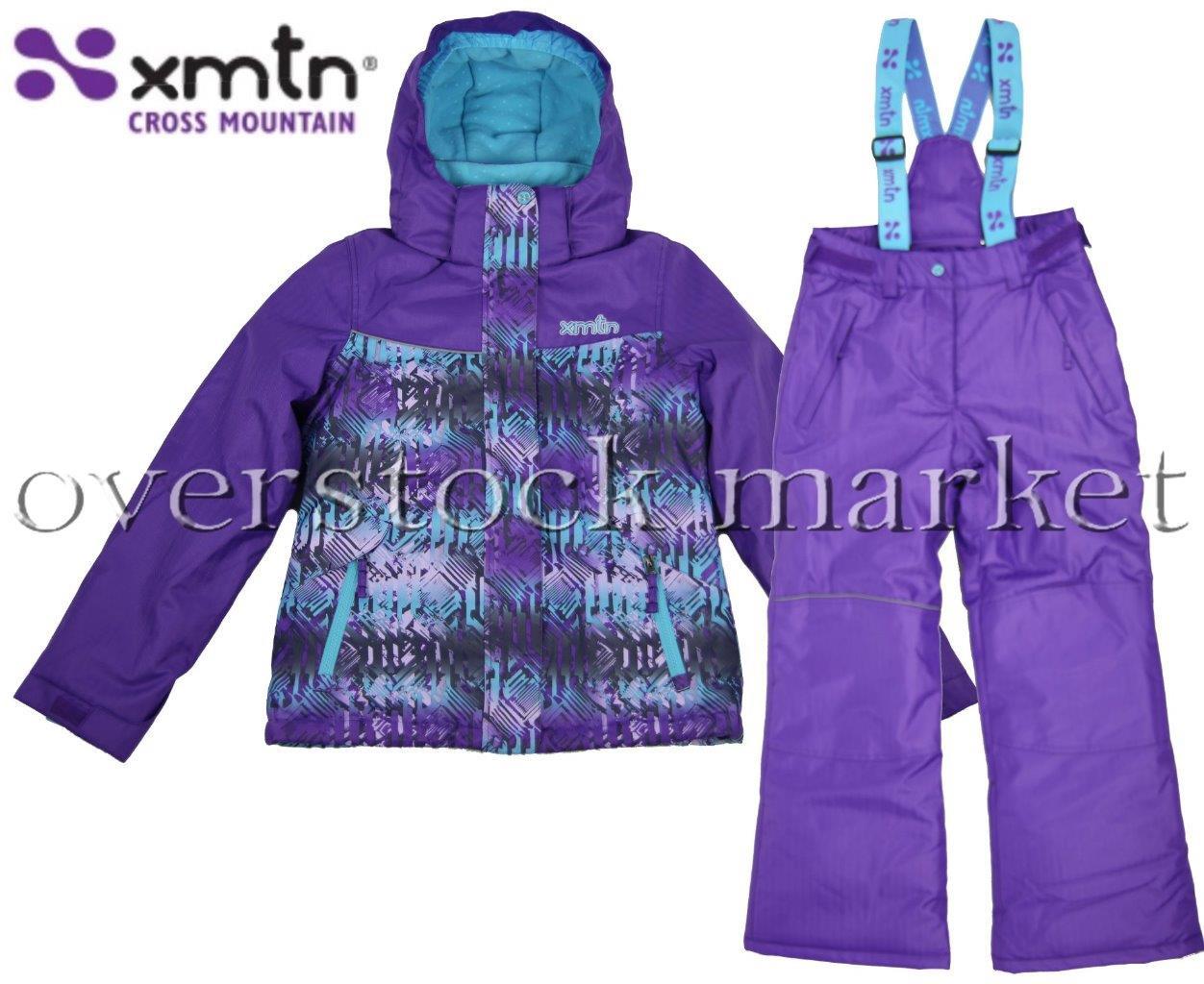 XMTN GIRLS WINTER COAT & BIB PANT SET SKIBOARDER SNOW SETS