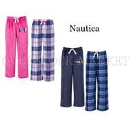 BOYS OR GIRLS NAUTICA 2 PACK FLEECE SLEEP PANTS! SO SOFT!