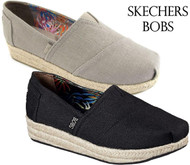 WOMEN'S SKECHERS BOBS HIGHLIGHTS HIGH JINX ESPADRILLE WEDGE SHOES!