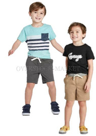 NEW! BOY'S CAT & JACK PULL-ON CHINO SHORT! RIBBED ELASTIC WAIST!