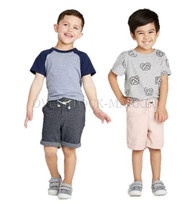 BOY'S CAT & JACK DRESSY CHINO SHORT!  BUTTON & FLY CLOSURE!