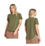 NEW! WOMENS A NEW DAY SHORT SLEEVE SANDWASHED CREWNECK T-SHIRT! SO SOFT! VARIETY