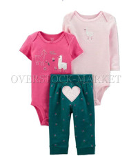 NEW!  INFANT GIRLS JUST ONE YOU! BY CARTERS 3 PIECE SET! 2 SHIRT,1 PANT! VARIETY