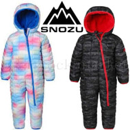 SNOZU INFANT FLEECE LINED QUILTED WINTER SNOWSUIT FOR BOYS & GIRLS