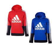 NEW! BOY'S ADIDAS 3 STRIPE FLEECE LINED HOODED SWEATSHIRT!