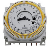 Grasslin OEM Quartz Analogue Time Clock Black Face, White Tappet - Timer