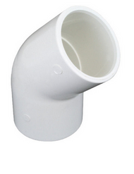 PVC Elbow 45 degrees x 40mm