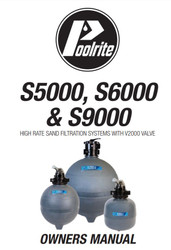 Poolrite S5000, S6000 & S9000 Sand Filter Manual