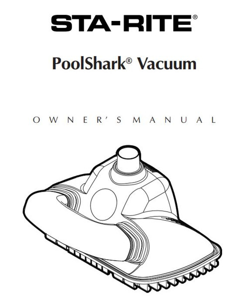 Sta-Rite Pool Shark Pool Cleaner Manual