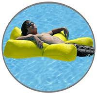 Luxury Mesh Bean Bag Pool Float - Yellow Starfish