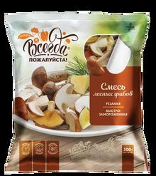 Mushrooms Wild Assorty (Aspen, Suillus, Boletus) Quick frozen (300g pack)