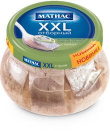 Herring Fillet Pieces XXL Selected with Onions in a jar (260g pack)
