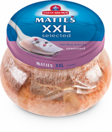 Herring Fillet Pieces XXL Selected Seasoned in a jar (260g pack)