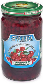 Eco-product, Lingonberry Soaked Natural (340g)