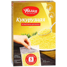Uvelka, Corn grits in cooking bags (400g)