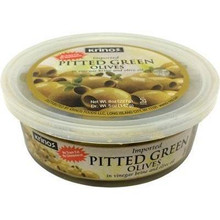 Krinos, Pitted Green Olives marinated in brine (142g)