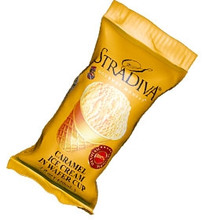 Stradiva, Caramel Ice Cream in Wafer Cup