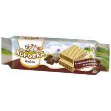 Wafers. Korovka Chocolate Mini Wafers, Рот-Фронт