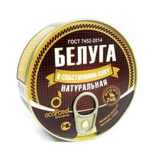 Ecofood Armenia, Beluga Sturgeon in Own Juice Natural (240g)