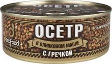 Ecofood Armenia, Sturgeon with Buckwheat in Olive Oil (240g)