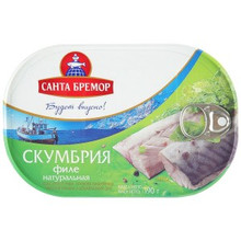Santa Bremor, Natural Mackerel Fillet in Oil (190g)