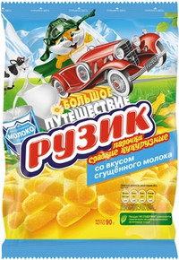 Рузик, Corn sticks with condensed milk flavor (90g)
