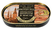 Riga Gold, Smoked Baltic herring in Oil (190g)