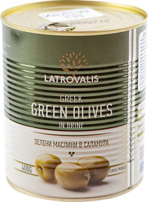 Latrovalis, Greek Green Olives in brine (400g)