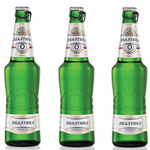 Baltika #0 Non-Alcoholic Russian Beer (3 bottles)
