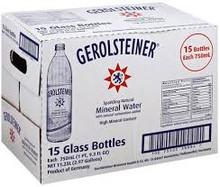 Gerolsteiner Mineral Water, Sparkling Natural (15 Glass Bottles/ 750 ml)