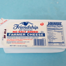 Friendship Dairies Farmer Cheese No Salt Added