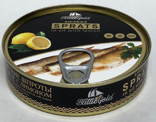 Baltic Gold, Smoked Sprats in Oil with Lemon (160g)