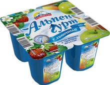 Yogurt Wild Strawberry, Apple & Pear by Альпенгурт (pack of 4)
