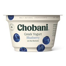 Chobani Non-Fat Greek Yogurt, Blueberry 5.3oz