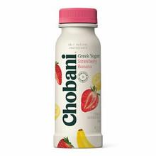 Chobani Low-Fat Greek Yogurt Drink Strawberry & Banana 7 oz