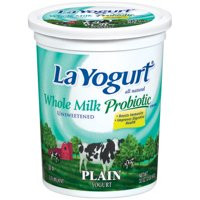 La Yogurt Probiotic Plain Unsweetened Whole Milk Yogurt 32 Oz.