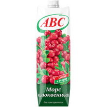 ABC Juice 100 % Cranberry Mors 1 L